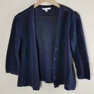 CAbi Knit Navy Blue Cardigan Sweater